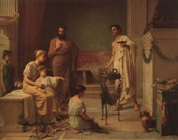 A Sick Child Brought into the Temple of Aesculapius CGFA